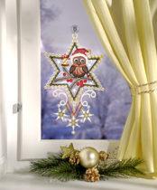 """Blancheporte Okenná dekorácia """"Vianočná sova"""""""