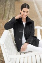 Blancheporte Fleecová bunda, čierna čierna M