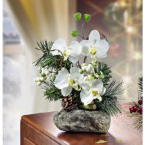 Blancheporte Aranžmán z orchideí, biela biela
