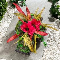"""Blancheporte Dekorácia hrobu """"Kríž s kvetinami"""