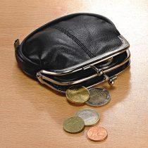 Magnet 3Pagen Kožená peňaženka čierna