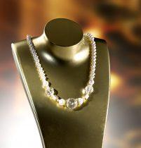 Magnet 3Pagen Náhrdelník Sladkovodné perly krémová