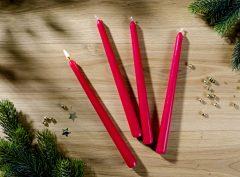 Magnet 3Pagen 4 kónické sviečky, červená