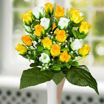 Magnet 3Pagen Kytica ruží, žltá-biela