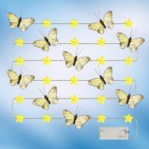 """Magnet 3Pagen Svetelná reťaz """"Motýle"""", žltá"""