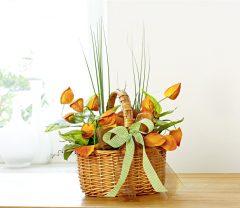 Magnet 3Pagen Prútený kôš s kvetinami