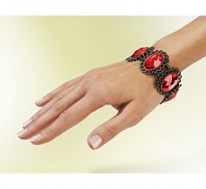 Magnet 3Pagen Hematitový náramok červená