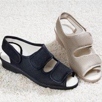 Magnet 3Pagen Sandále na suchý zips, čierna 37