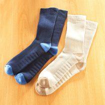 Magnet 3Pagen 2 páry ponožiek pre vbočené palce, béžová + námornícká modrá 2 páry 35/38