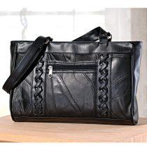 Magnet 3Pagen Kožená taška, čierna 30x10x19,5cm
