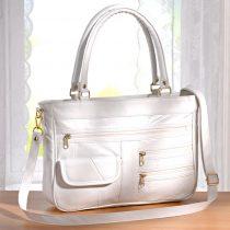 Magnet 3Pagen Patchworková kabelka, biela