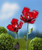 Magnet 3Pagen Solárna kvetina, červená