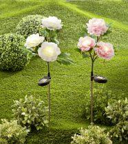 Magnet 3Pagen Solárna pivonka s 3 kvetmi biela