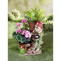 Magnet 3Pagen Trpaslík s kvetináčmi