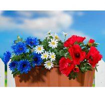 """Magnet 3Pagen 3 kytice do hrantíka """"Jesenné lúčne kvety"""""""