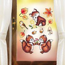 "Magnet 3Pagen Obraz na okno ""Zvieratká z lesa"""