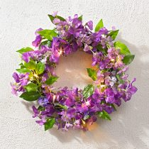 Magnet 3Pagen LED kvetinový veniec, fialová