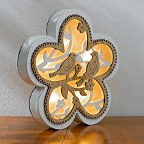 "Magnet 3Pagen LED kvetina ""Párik vtáčikov"""