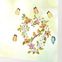 """Magnet 3Pagen Obrázok na okno """"Srdce s vtáčikmi a motýľmi"""""""