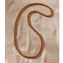 Magnet 3Pagen Perlový náhrdelník zlatá farba dĺžka 80cm