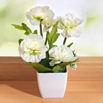 Magnet 3Pagen Kvetina v kvetináči biela