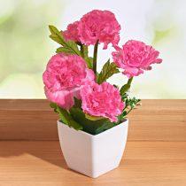 Magnet 3Pagen Kvetina v kvetináči ružová