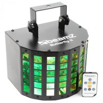 Beamz Butterfly II LED Mini Derby 6x3W, RGBAWP, IR