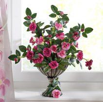 Magnet 3Pagen Divoké ruže v kvetináči