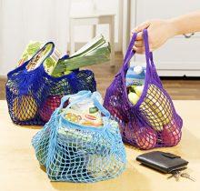 Magnet 3Pagen Sieťová nákupná taška modrá