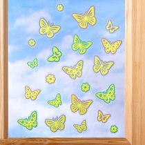 """Magnet 3Pagen Obraz na okno """"Motýle"""", samosvietiace"""