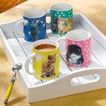 """Magnet 3Pagen 4 šálky na kávu """"Mačky"""""""