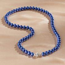 Magnet 3Pagen Perlový náhrdelník modrá 55cm dlžka