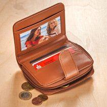Magnet 3Pagen Patchworková peňaženka koňaková