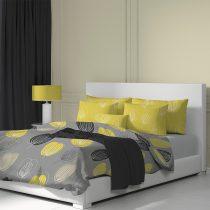 Magnet 3Pagen Obliečky bavlna Grace sivá/žltá obliečka na vankúšik 40x40cm