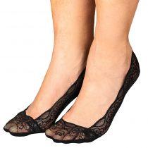 Magnet 3Pagen Čipkované ponožky do balerín čierna/čierna/čierna 36-41