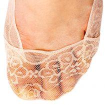 Magnet 3Pagen Čipkované ponožky do balerín staroružová/modrá/staroružová 36-41