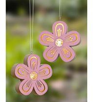 Magnet 3Pagen LED závesná dekorácia kvet pr.12cm