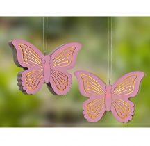 Magnet 3Pagen LED závesná dekorácia motýl 12 cm