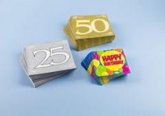 Magnet 3Pagen Obrúsky Happy Birthday,20ks 33x33cm