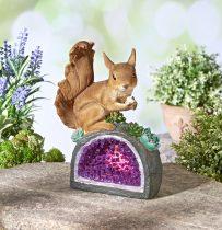 """Magnet 3Pagen Solárne svetlo """"Veverička na kryštáli"""""""