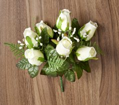 Magnet 3Pagen Kytica ruží. biela