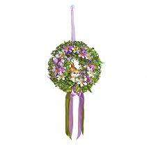 Magnet 3Pagen Kvetinový veniec s mačkou fialová