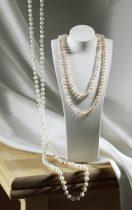 Magnet 3Pagen Perľový náhrdelník ružová-biela 130 cm