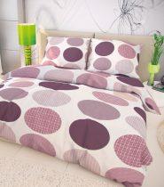 Magnet 3Pagen Bavlnená postelná bielizen Ava fialová fialová/biela jednolôžko 140x200 + 70x90cm