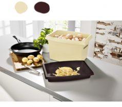 Magnet 3Pagen Box na zemiaky béžová-hnedá