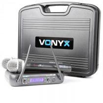 Vonyx WM73, bezdrôtový 2-kanálový UHF vysielací systém