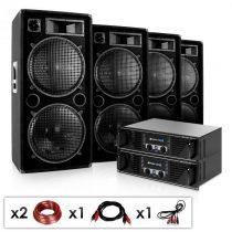 "Electronic-Star Kompletná DJ PA sada ""Phuket Pulsar Pro"" 2 x zosilňovač, 4 x repro..."