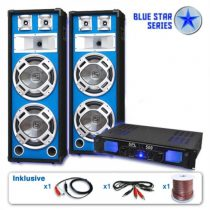 "Electronic-Star PA set Blue Star Series""Bassveteran"", 1600 W"