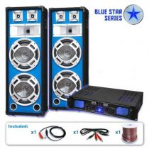 "Electronic-Star PA set Blue Star Series ""Basskern"", 2800 W"