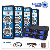 "Electronic-Star PA set Blue Star Series ""Bassveteran Quadro"", 3200 W"